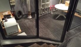 Cloison vitrée escalier