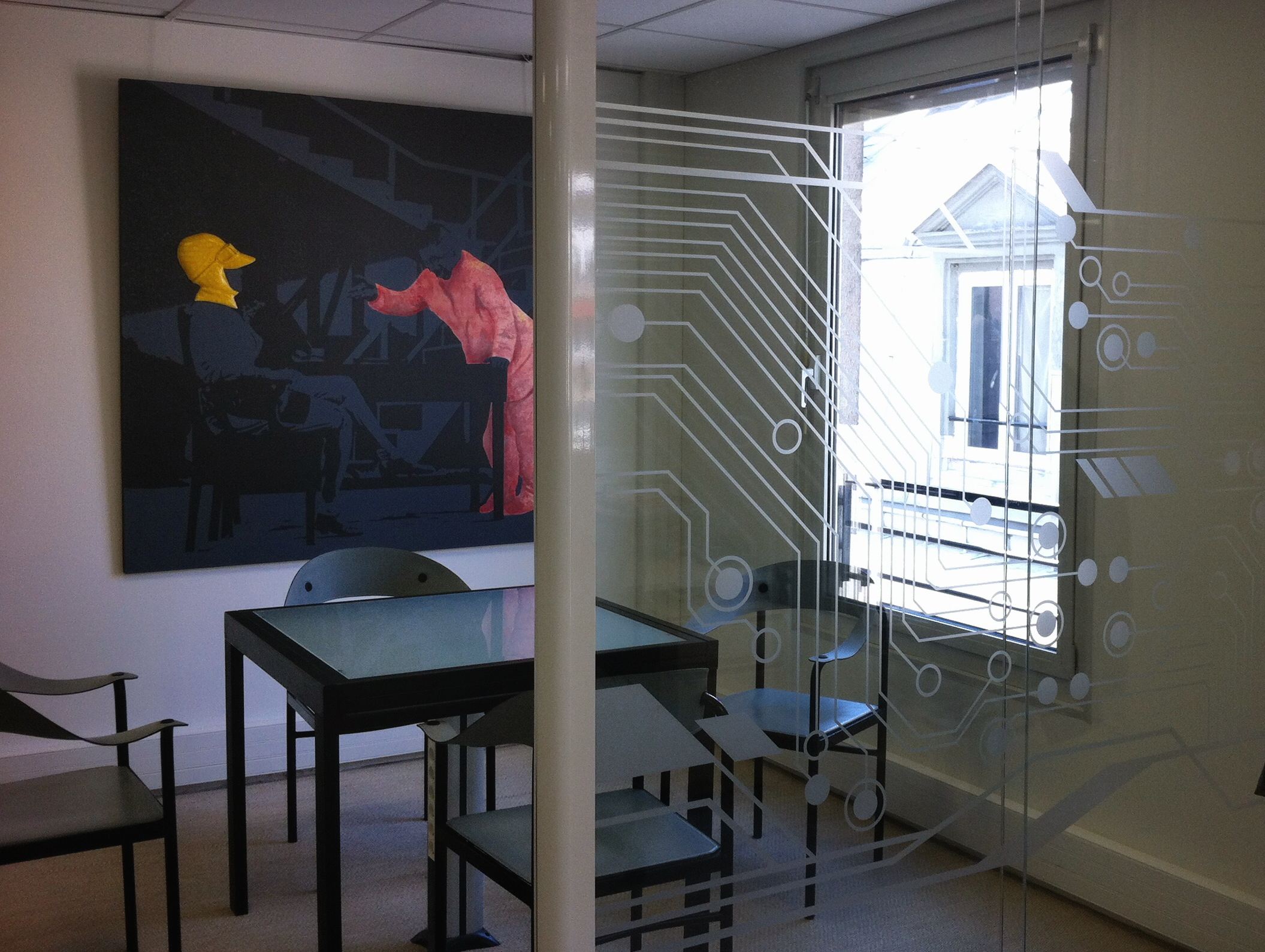 cloison vitrée vitrophanie