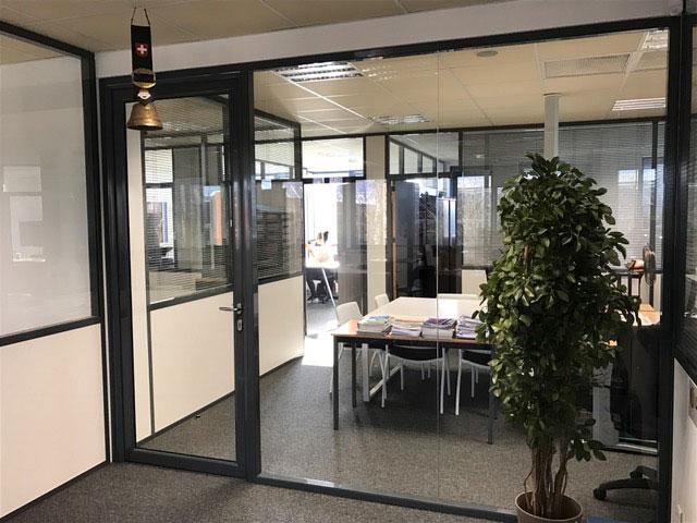 Salle de réunion vitrée