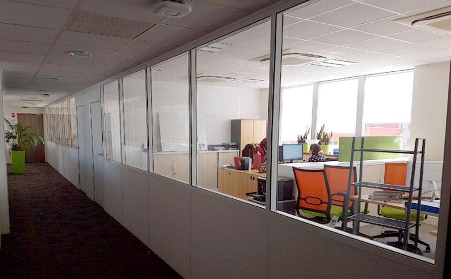 Aménagement d'un plateau de bureaux partagés à Massy