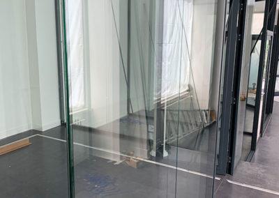 Cloison bureaux vitrée