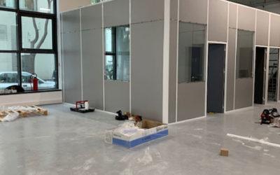 Création de bureaux pour DeliverMe City Paris