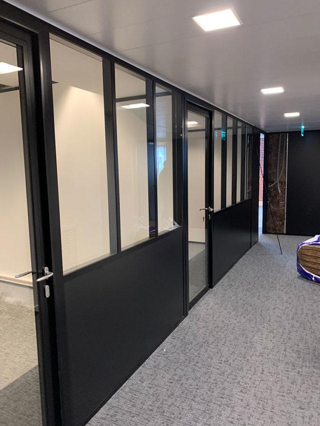 Bureaux cloison semi-vitrée-courbevoie