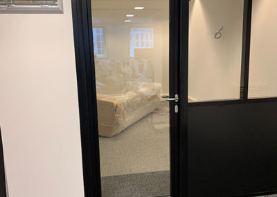 Cloison porte vitrée bureaux