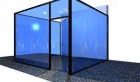 Plan 3D de la salle de reunion vitree