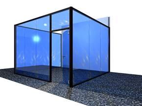3D salle de réunion vitrée
