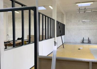Aménagement de bureaux en cours